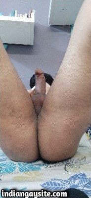 Naked Indian Twink Shows Uncut Cock & Smooth Ass