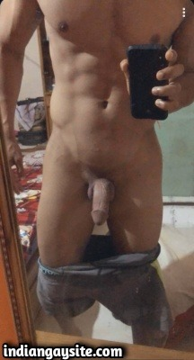 Slutty Naked Indian Stud in Pink Thongs