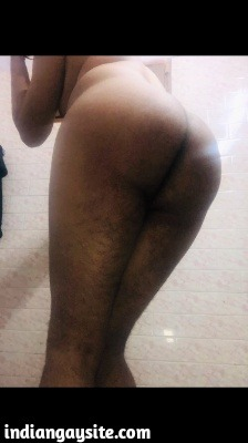 Naked Indian Bottom Shows Bare Bubbly Ass