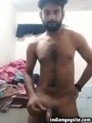 Indian Gay Video of Sexy Guy Stripping Naked & Wanking
