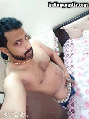 Sexy Indian Hunk Strips Naked to Show Huge Dick