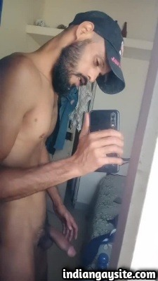 Naked Muscular Indian Hunk Teases Huge Uncut Lund