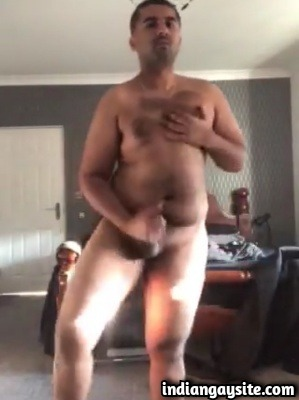 Indian Male Nude & Twerking Showing Hairy Bear Body