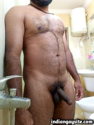 Big Indian Dick of a Horny & Hairy Naked Hunk