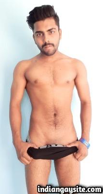 Horny Punjabi Hunk Posing in Bulging Boxers