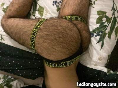 Hairy Indian Hunk Shows Whole Furry Body Naked