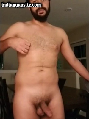 Amateur Gay Porn of Sexy Indian Hunk Stripping & Wanking