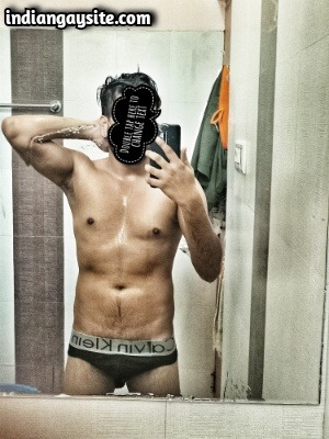 Indian Naked Hunk Shows Sexy Wet Body & Dick in Briefs