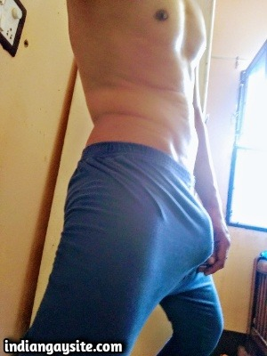 Big Dick Gay Porn Showing Bulging Hard Boxers