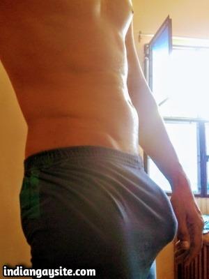 Big Dick Gay Porn Showing Bulging Hard Boxers