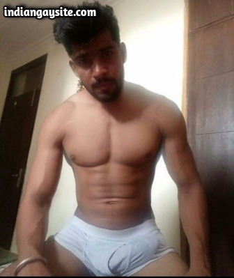 Indian Dick of a Horny Muscular Naked Stud