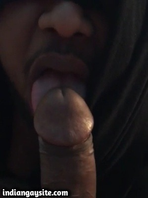 Big Brown Dick of Horny Indian Top Gets Licked