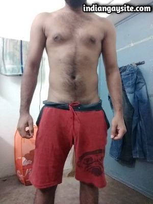 Gay Indian Bear Shows Thick & Hard Uncut Lund