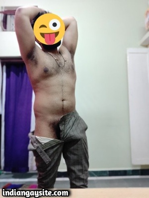 Hairy Desi Hunk Shows Nude Body & Bulging Undies