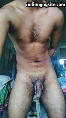 Hairy Indian Man Shows Sexy Body & Cock