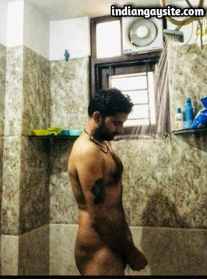 Naked Punjabi Hunk Taking a Shower & Pics