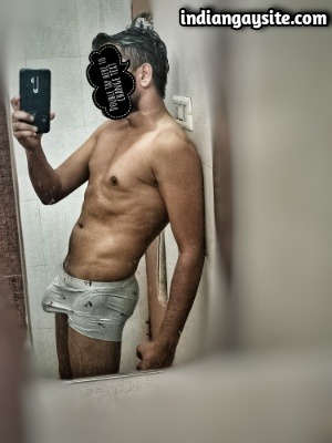 Muscular Indian Hunk in Tight Wet Boxers