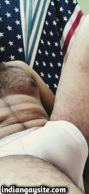 Hairy Desi Hunk Shows Nude Body & Bulging Undies