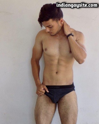 Hunk in Briefs Shows Smooth Muscular Body