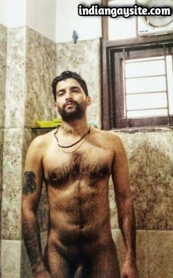 Naked Punjabi Hunk Taking a Shower & Pics
