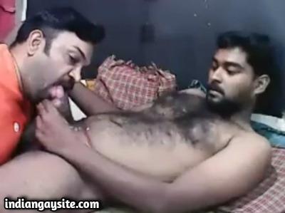 Gay cum sucker video of hairy Tamil hunk