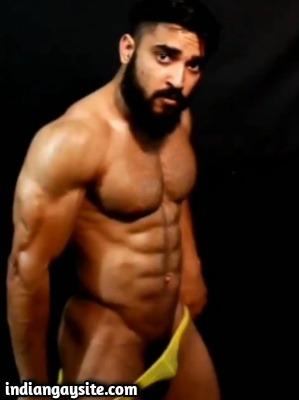 Gay stripper porn of sexy muscular desi hunk