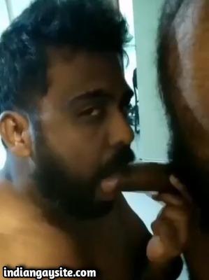 Tamil gay man sucking date's big cock