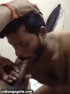 XXX gay sex video of thick cock threesome