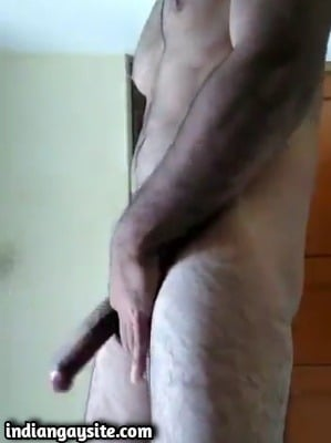 Punjabi gay hunk masturbating naked on cam