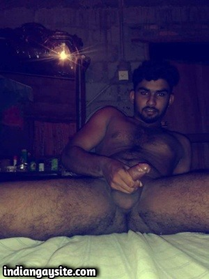 Horny naked twink shows sexy big hard cock