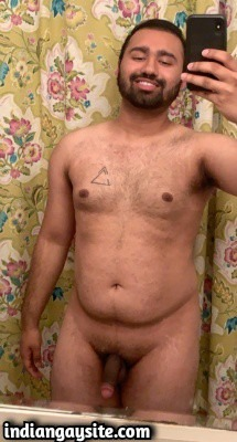 Naked desi bear shows sexy big dick & body