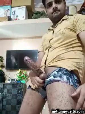 Big hard dick video of stripping desi hunk