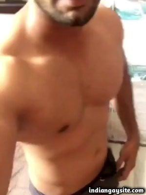 Muslim gay man stripping naked on cam