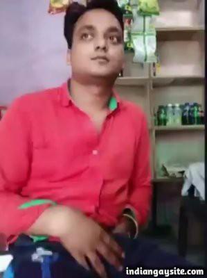 Public masturbation video of a horny shopkeeper