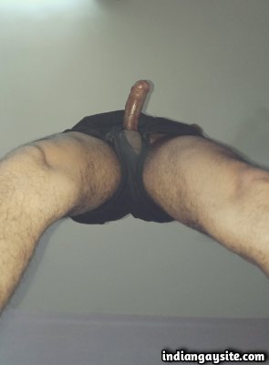 Big Indian cock of sexy hunk in hot undies