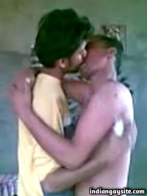 Horny straight friends kissing each other passionately
