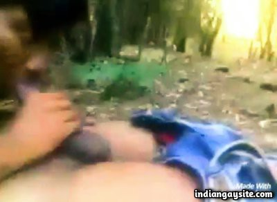 Public park gay sex video of twink in the woods