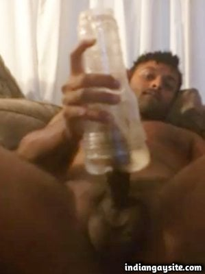 Fleshlight fucking video of horny naked Indian guy