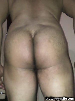 Gay butt play video of horny guy's hot cumshot