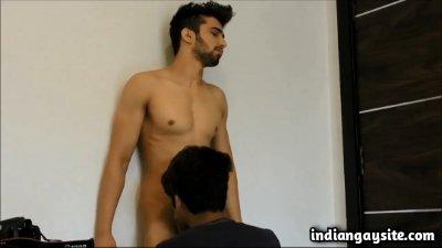Straight guy sucked by a horny gay cock sucker