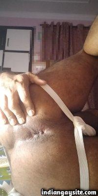 Nude desi man teases dick and ass hole