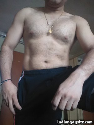 Horny desi daddy teasing big juicy dick and ass
