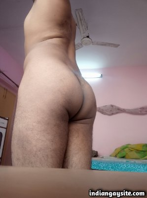 Horny desi twink exposing ass and hard cock