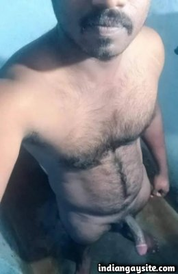 Tamil big dick of a hot and hairy naked hunk