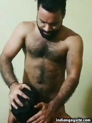 Gay manly hunk fucking a slut's mouth
