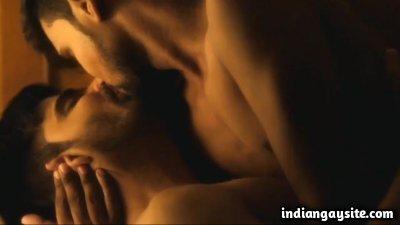 Romance gay scene of hot Indian hunky men
