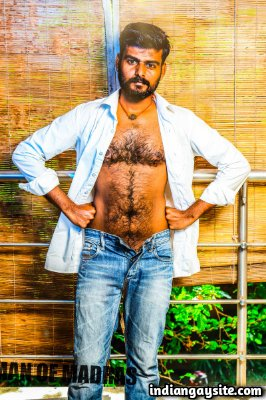 Bangalore gay hunk strips and shows big dick