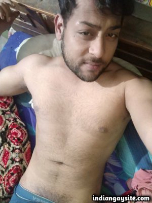 Horny desi guy wanking and posing naked on cam