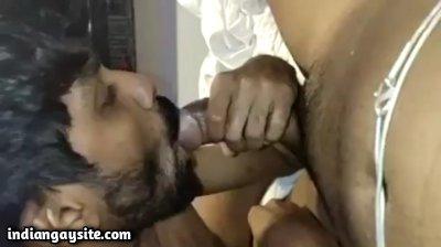 Drunk cock sucker pleasing horny buddy deep throat