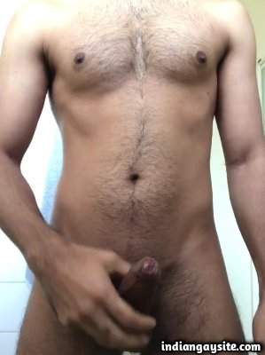 Hard uncut cock of a sexy naked horny hunk